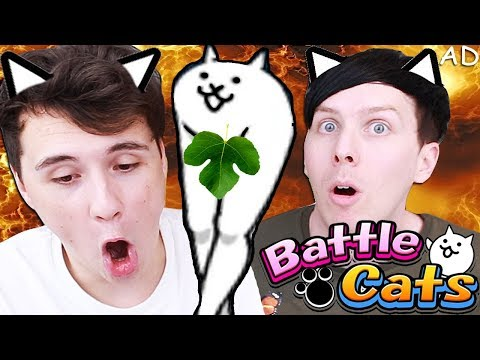 CATS ARE DESTROYING THE WORLD - Dan and Phil play: Battle Cats!