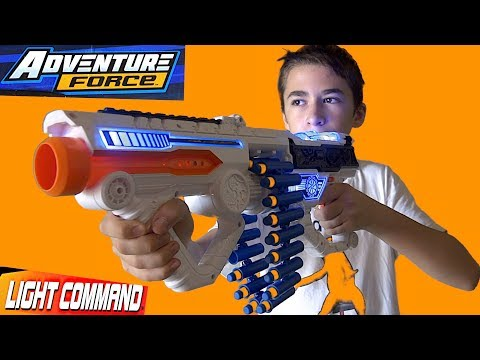 Dart Zone Adventure Force Light Command Light-Up Belt Blaster