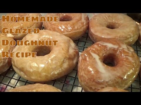 HOMEMADE Glazed Doughnut Recipe...