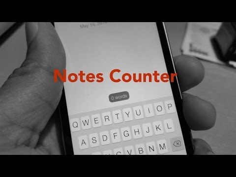 NotesCounter: a word counter for the stock Notes app