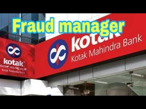 Kotak Bank fraud manager story