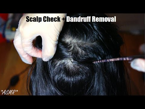 ASMR Scalp Check + Dandruff Removal (LOTS OF SCRATCHING) + Hair Brushing + Scalp Scratching Massage
