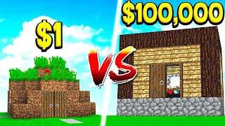 $1 DIRT HOUSE vs $100,000 WORLD