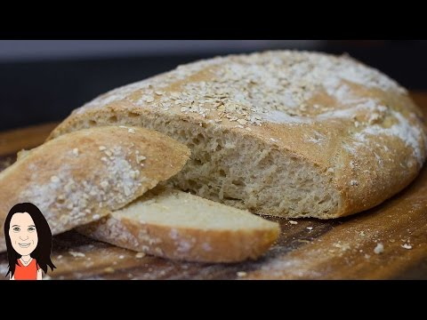 How to Make Rustic Homemade Bread - EASY No Knead Recipe!