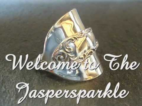 jaspersparkle Silver Spoon Rings handmade antique