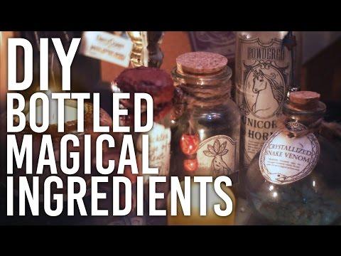 How to Make Halloween Decor - Bottled Magic Ingredients: DIY