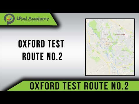 Oxford (Cowley) Driving Test Route No.2