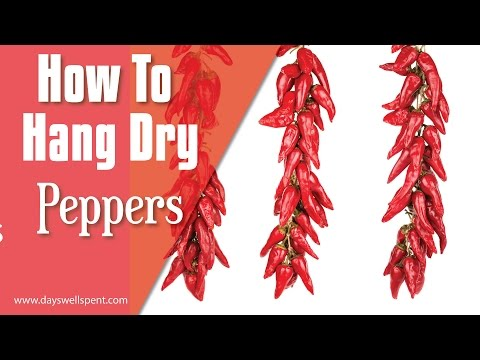 How to string and hang dry peppers