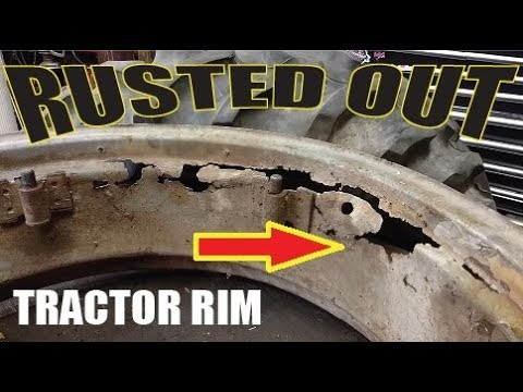Rusted out Tractor Wheel Repair