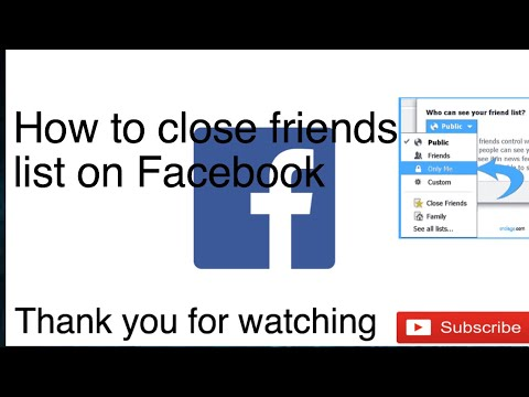 How to close friend list on Facebook