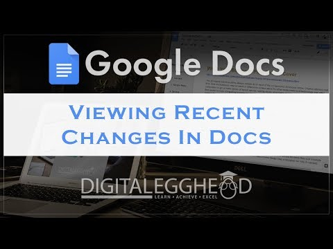 Google Docs Tips - View Recent Changes