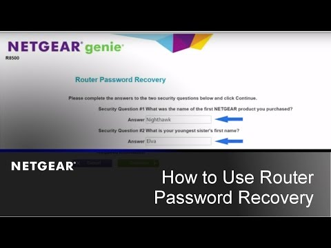 How to use the Router Password Recovery feature | NETGEAR