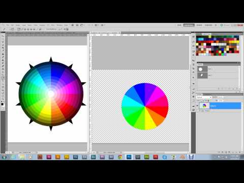 How To Make A Color Wheel: Photoshop Tutorial Part 8 Mastering Vectors