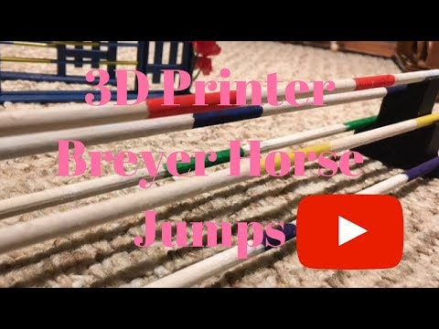 Awesome  Breyer Horse Jump Process With 3D Printer!