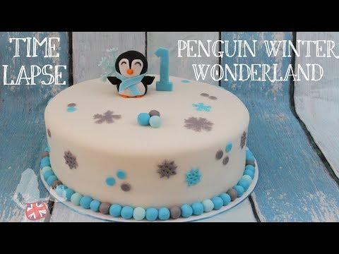 Time Lapse: Penguin Winter Wonderland Cake