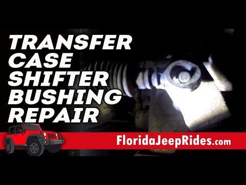 2007 Wrangler 6 speed Transfer case shifter bushing repair