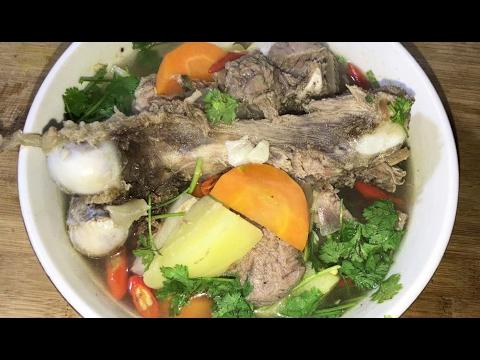 Soup Pork - Asian Food Recipes, Cambodian Food Cooking, by KarKar24
