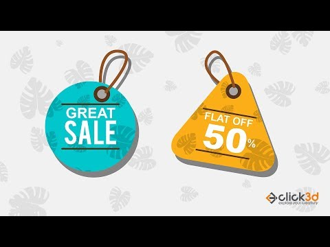 How to Design Offer Tag in Photoshop | Photoshop Tutorial | click3d