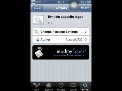 How to change ipod iPad or iPhone carrier names with zeppelin for free