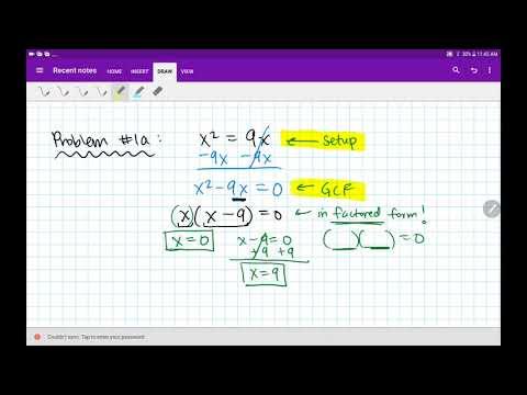 Algebra 2/Trig Solving Quadratic Equations Homework 2.7