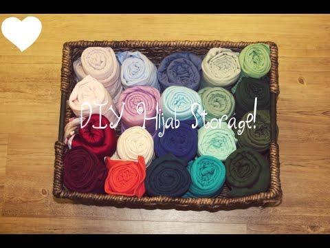 DIY Hijab and Scarf Storage