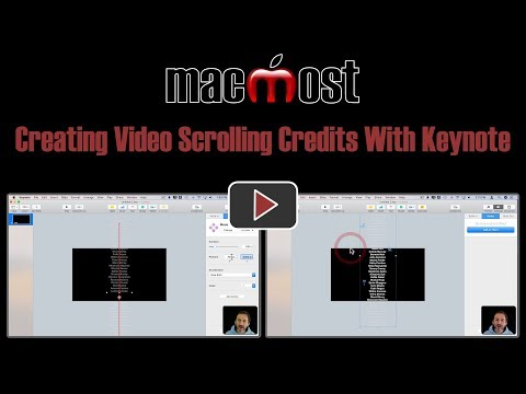 Creating Video Scrolling Credits With Keynote (MacMost #1823)