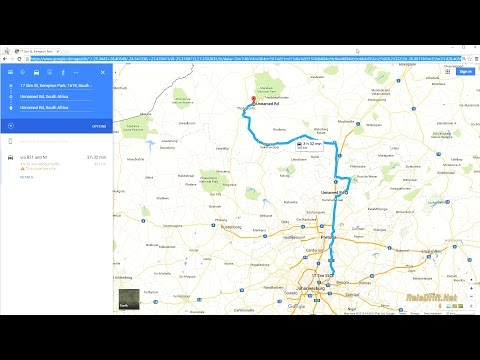 Use Google Maps on pc to make Car Navigation Route
