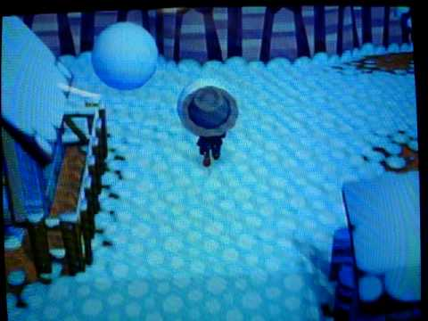 Animal Crossing City Folk how to make the perfect snowman