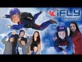 KIDS GO INDOOR SKYDIVING FUNnel V Competition IFly Dallas TX CHALLENGE Who Flew Better
