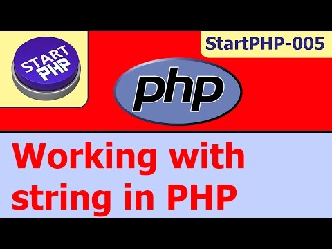 Working with string in PHP (absolute beginners) startPHP-005