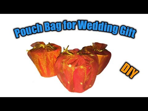 Pouch Bag for Wedding Gift || Handmade Pouch Bag || DIY