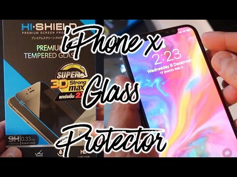 Glass Screen Protector for iPhone X - review | Unboxing
