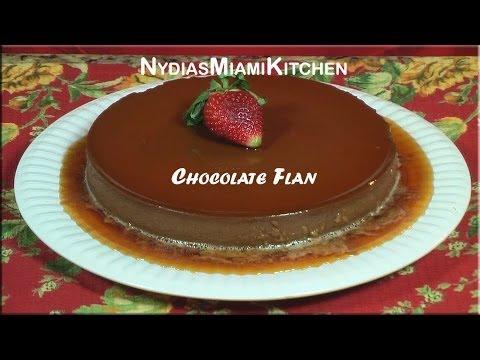 Chocolate Flan -bilingual recipe