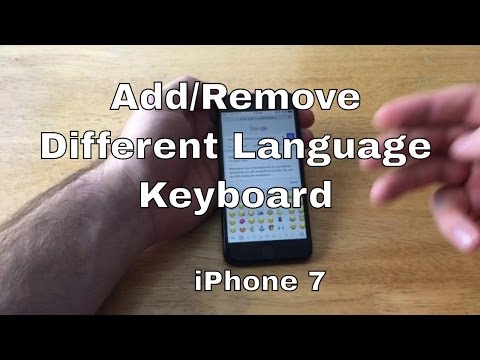 How to change language keyboard  iPhone 7/7+
