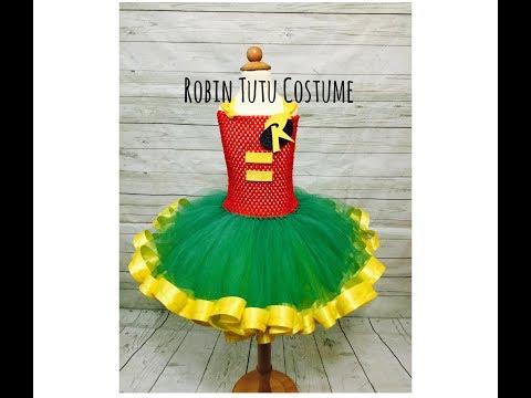 Ribbon Trim Robin Tutu | Super Hero Series | DIY Robin Tutu