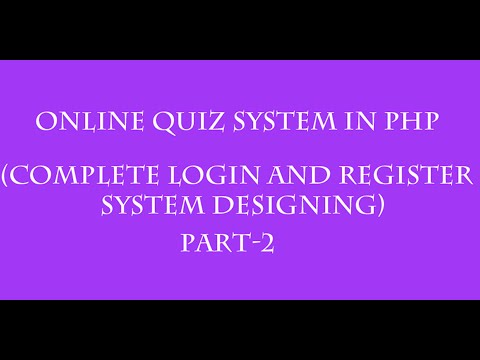 online quiz system in php hindi  part-2(complete designing login and register system)