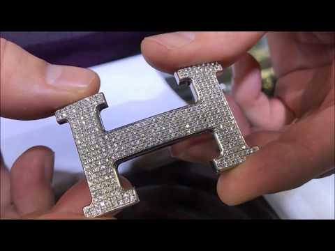 Custom Diamond Hermes Belt Buckle