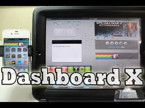 How To Add Widgets iPhone, iPod Touch, iPad with 'Dashboard X'