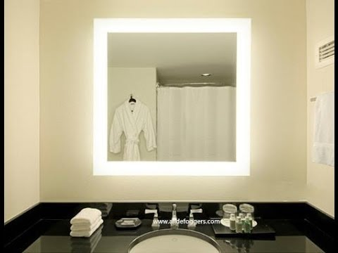 Wall Mounted Makeup Mirror With Lights