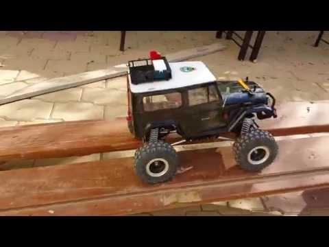 Tamiya (CR-01) RC car homemade track