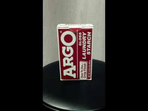 Argo Laundry Starch - How should I make it? You decide.