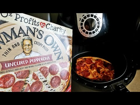 Air Fryer From Frozen Newman's Own Thin & Crispy Pepporoni Pizza