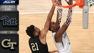Pittsburgh vs. Georgia Tech Condensed Game   2018-19 ACC Basketball