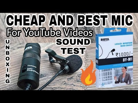 Cheap & best Mic for Youtube | Events | Budget Mic for Mobile, DSLR | Unboxing & Sound test | V Talk
