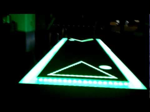 LED Beer Pong Table with Ball Washers and Moat