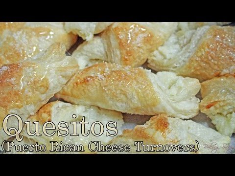 Quesitos - Puerto Rican Cheese Turnovers -Pastry at its Finest
