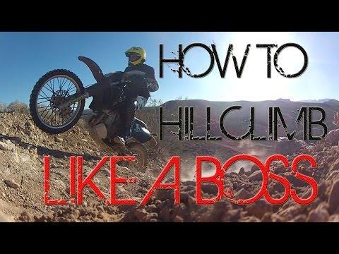 o#o How to Hill Climb on a Dirt Bike & Pick up a Dual Sport Motorcycle on a Slope [mv]{