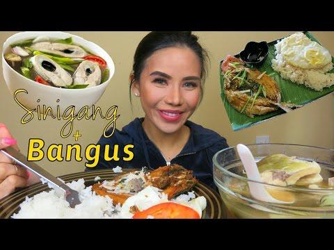 Filipino Food Mukbang | Fish Sinigang | Bangus with rice and egg | Eating Show | Mukbang English