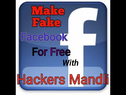 How To  Make Fake  Facebook Account  In Hindi
