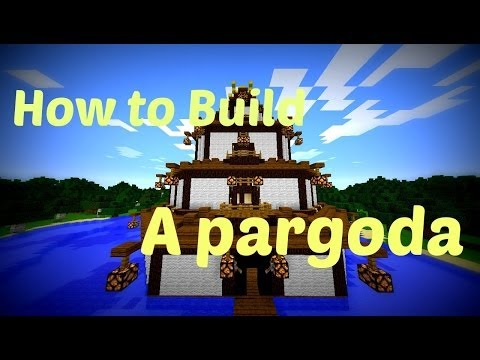 Minecraft - How to build a Pagoda!!!